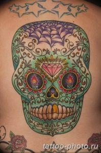 Фото рисунка тату череп 24.11.2018 №525 - photo tattoo skull - tattoo-photo.ru