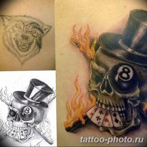 Фото рисунка тату череп 24.11.2018 №529 - photo tattoo skull - tattoo-photo.ru