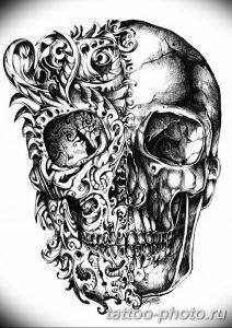 Фото рисунка тату череп 24.11.2018 №530 - photo tattoo skull - tattoo-photo.ru