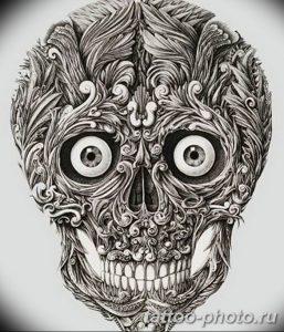 Фото рисунка тату череп 24.11.2018 №533 - photo tattoo skull - tattoo-photo.ru