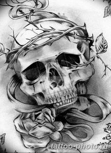 Фото рисунка тату череп 24.11.2018 №534 - photo tattoo skull - tattoo-photo.ru