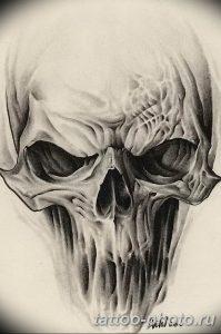 Фото рисунка тату череп 24.11.2018 №542 - photo tattoo skull - tattoo-photo.ru
