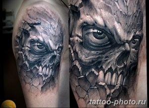 Фото рисунка тату череп 24.11.2018 №552 - photo tattoo skull - tattoo-photo.ru