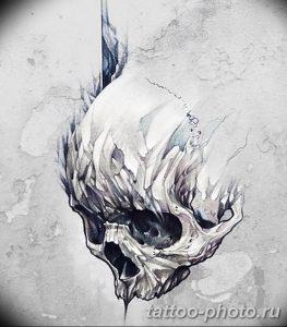 Фото рисунка тату череп 24.11.2018 №553 - photo tattoo skull - tattoo-photo.ru
