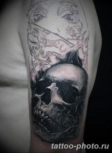 Фото рисунка тату череп 24.11.2018 №556 - photo tattoo skull - tattoo-photo.ru