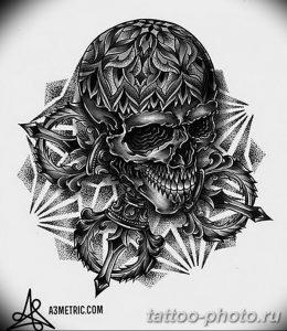 Фото рисунка тату череп 24.11.2018 №565 - photo tattoo skull - tattoo-photo.ru