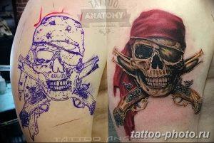 Фото рисунка тату череп 24.11.2018 №566 - photo tattoo skull - tattoo-photo.ru