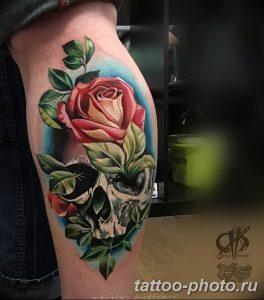 Фото рисунка тату череп 24.11.2018 №570 - photo tattoo skull - tattoo-photo.ru