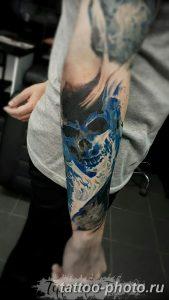 Фото рисунка тату череп 24.11.2018 №572 - photo tattoo skull - tattoo-photo.ru
