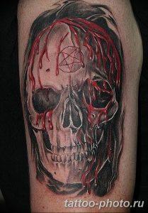 Фото рисунка тату череп 24.11.2018 №580 - photo tattoo skull - tattoo-photo.ru