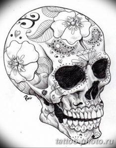 Фото рисунка тату череп 24.11.2018 №582 - photo tattoo skull - tattoo-photo.ru