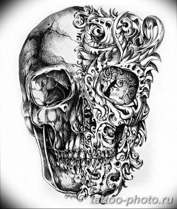 Фото рисунка тату череп 24.11.2018 №585 - photo tattoo skull - tattoo-photo.ru