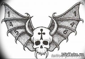 Фото рисунка тату череп 24.11.2018 №586 - photo tattoo skull - tattoo-photo.ru