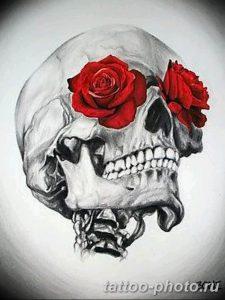 Фото рисунка тату череп 24.11.2018 №593 - photo tattoo skull - tattoo-photo.ru
