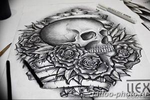 Фото рисунка тату череп 24.11.2018 №596 - photo tattoo skull - tattoo-photo.ru