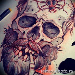 Фото рисунка тату череп 24.11.2018 №599 - photo tattoo skull - tattoo-photo.ru