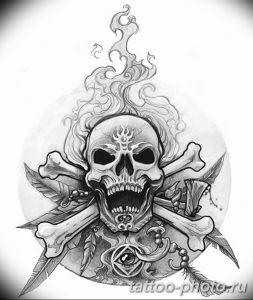 Фото рисунка тату череп 24.11.2018 №600 - photo tattoo skull - tattoo-photo.ru