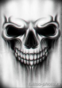 Фото рисунка тату череп 24.11.2018 №601 - photo tattoo skull - tattoo-photo.ru