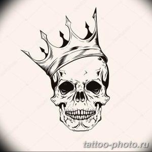 Фото рисунка тату череп 24.11.2018 №603 - photo tattoo skull - tattoo-photo.ru