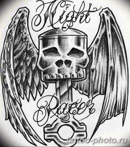 Фото рисунка тату череп 24.11.2018 №604 - photo tattoo skull - tattoo-photo.ru
