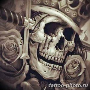 Фото рисунка тату череп 24.11.2018 №605 - photo tattoo skull - tattoo-photo.ru