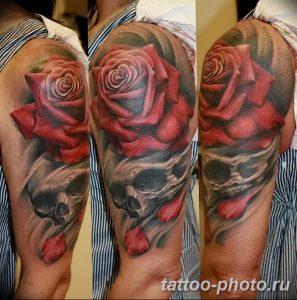 Фото рисунка тату череп 24.11.2018 №606 - photo tattoo skull - tattoo-photo.ru