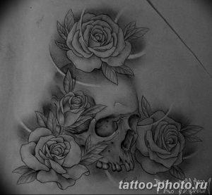 Фото рисунка тату череп 24.11.2018 №607 - photo tattoo skull - tattoo-photo.ru