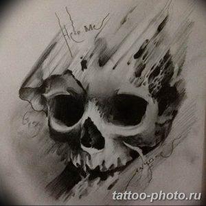 Фото рисунка тату череп 24.11.2018 №611 - photo tattoo skull - tattoo-photo.ru