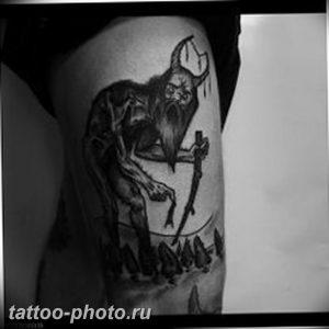 фото идея тату дьявол 18.12.2018 №001 - photo idea tattoo devil - tattoo-photo.ru