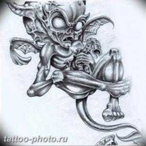 фото идея тату дьявол 18.12.2018 №006 - photo idea tattoo devil - tattoo-photo.ru