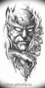 фото идея тату дьявол 18.12.2018 №064 - photo idea tattoo devil - tattoo-photo.ru