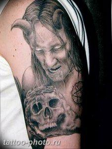 фото идея тату дьявол 18.12.2018 №072 - photo idea tattoo devil - tattoo-photo.ru