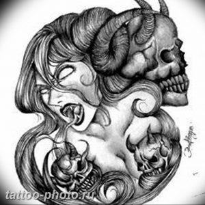 фото идея тату дьявол 18.12.2018 №076 - photo idea tattoo devil - tattoo-photo.ru