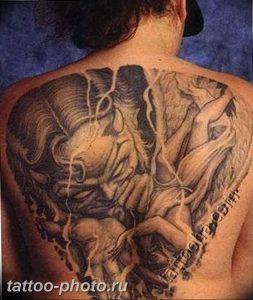 фото идея тату дьявол 18.12.2018 №080 - photo idea tattoo devil - tattoo-photo.ru