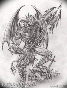 фото идея тату дьявол 18.12.2018 №081 - photo idea tattoo devil - tattoo-photo.ru