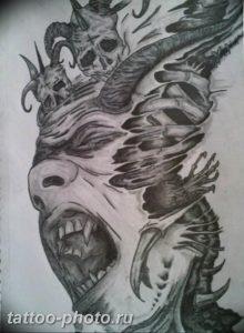 фото идея тату дьявол 18.12.2018 №129 - photo idea tattoo devil - tattoo-photo.ru