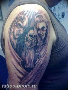 фото идея тату дьявол 18.12.2018 №173 - photo idea tattoo devil - tattoo-photo.ru