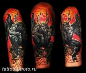 фото идея тату дьявол 18.12.2018 №254 - photo idea tattoo devil - tattoo-photo.ru