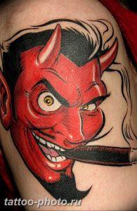 фото идея тату дьявол 18.12.2018 №261 - photo idea tattoo devil - tattoo-photo.ru