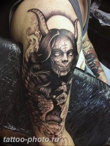 фото идея тату дьявол 18.12.2018 №263 - photo idea tattoo devil - tattoo-photo.ru