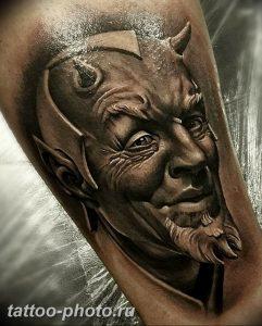 фото идея тату дьявол 18.12.2018 №313 - photo idea tattoo devil - tattoo-photo.ru