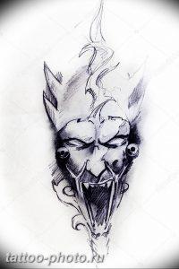 фото идея тату дьявол 18.12.2018 №315 - photo idea tattoo devil - tattoo-photo.ru