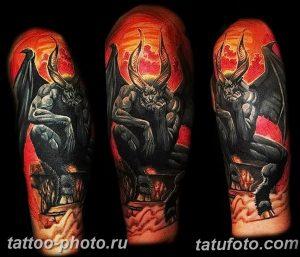 фото идея тату дьявол 18.12.2018 №337 - photo idea tattoo devil - tattoo-photo.ru