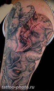 фото идея тату дьявол 18.12.2018 №349 - photo idea tattoo devil - tattoo-photo.ru