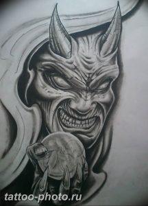 фото идея тату дьявол 18.12.2018 №355 - photo idea tattoo devil - tattoo-photo.ru