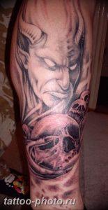 фото идея тату дьявол 18.12.2018 №359 - photo idea tattoo devil - tattoo-photo.ru