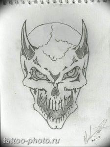 фото идея тату дьявол 18.12.2018 №360 - photo idea tattoo devil - tattoo-photo.ru