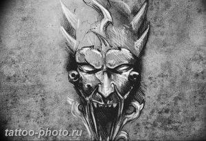 фото идея тату дьявол 18.12.2018 №416 - photo idea tattoo devil - tattoo-photo.ru