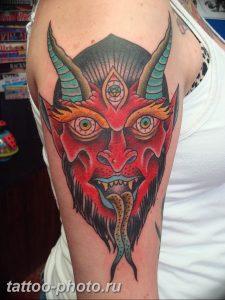 фото идея тату дьявол 18.12.2018 №439 - photo idea tattoo devil - tattoo-photo.ru