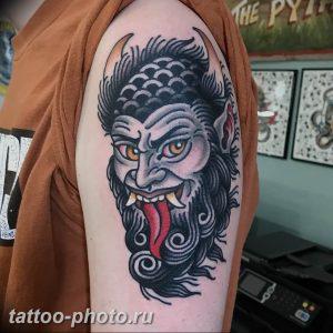фото идея тату дьявол 18.12.2018 №441 - photo idea tattoo devil - tattoo-photo.ru